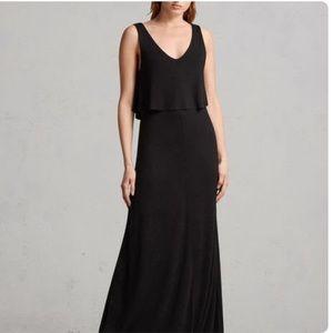 NWT All Saints Helena Popover Dress - Small, Black